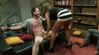 Convivial wife cuckolds her husband while..
