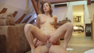 Czech sweety gets her ass elegantly fucked