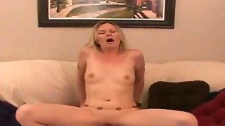 Marvelous blonde milf is doing an awesome..