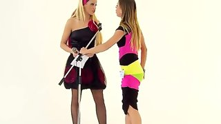 Amazing girls chary kiss and nikky thorne are..