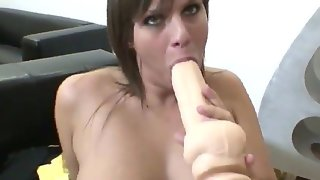 Arabella loves to play with her favorite dildo,..