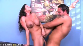 Long haired milf brunette ariella ferrera with..