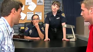 Two gorgeous ladies in cop uniform dana dearmond..