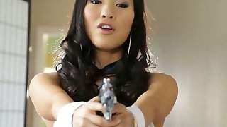 Amazing asian brunette asa akira playing with..