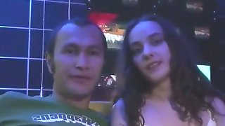 A very cute russian bitch met a dude at a..
