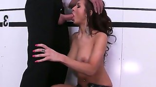 Attractive arousing brunette whore amy ried
