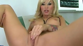 Blonde haired lady doctor monique alexander