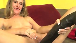 Skinny mature woman sara james with