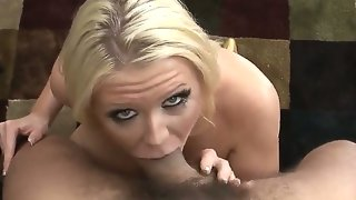 Watch this sexy blonde busty slutty