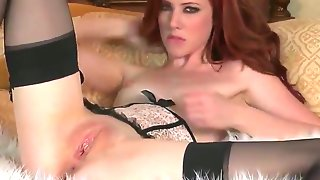 This sexy little redhead slut with