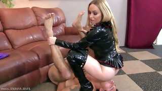 Long haired blonde milf aiden starr in black..