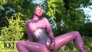 Latex lucy is one kinky fetish model with huge..